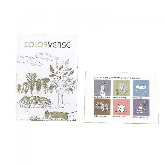 Colorverse 30ml Fountain Pen Ink Bottle - Rainy Day - Light Blue Ink - Joy In The Ordinary Series Dye Based, Water Resistant, Non Toxic, Made In Korea