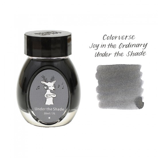 Colorverse 30ml Gray Ink - Fountain Pen Ink Bottle - Under The Shade - Joy In The Ordinary Series Dye Based, Water Resistant, Non Toxic, Made In Korea