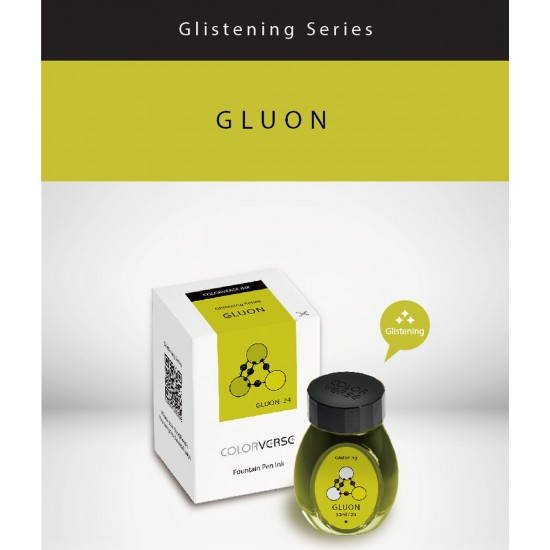 Colorverse 30 ml Multiverse Gluon Glistening Series Under The Shade – Light Green Fountain Pen Ink Bottle Dye Based including Glistening Pigment, Nontoxic, Made in Korea