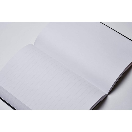 ZEQUENZ Basic Plus 360 Degree Hand Bound Grey-Black Soft Cover A5 Size Ruled - Blank - Lined - Plain Journal Notebook Diary, White Premium Paper, 400 pages