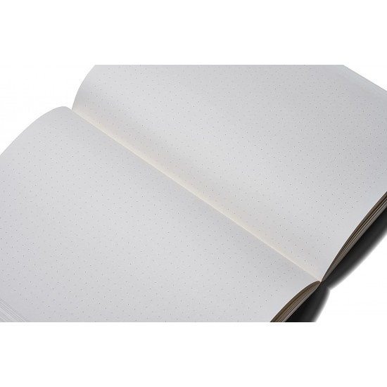 ZEQUENZ The Color Notebook Storm A5 Size Dotted 200 Pages Soft Cover 14.8x21cm, 80gsm Cream Coloured Paper 360 Degree Openable Flexible Roll Up Journal for Writing Sketching Fountain Pen Friendly