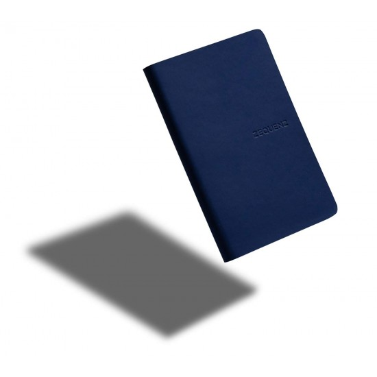 ZEQUENZ The Color Notebook Dark Navy A6- Size Ruled 200 Pages Soft Cover 9x14cm, 80gsm Cream Coloured Paper 360 Degree Openable Flexible Roll Up Journal Fountain Pen Friendly