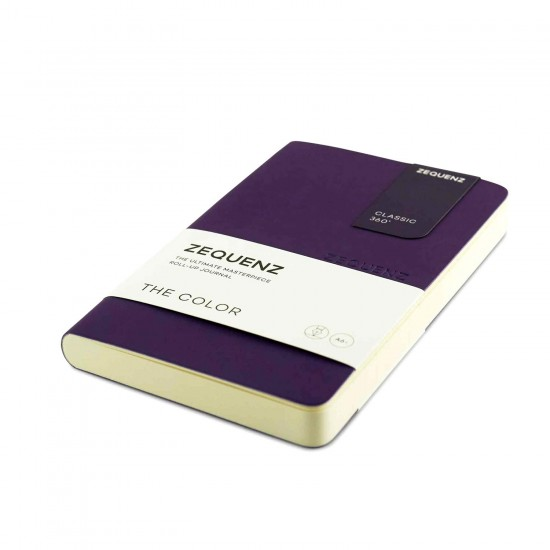 ZEQUENZ The Color Notebook Scarlet A6- Size Ruled 200 Pages Soft Cover 9x14cm, 80gsm Cream Coloured Paper 360 Degree Openable Flexible Roll Up Journal  Fountain Pen Friendly