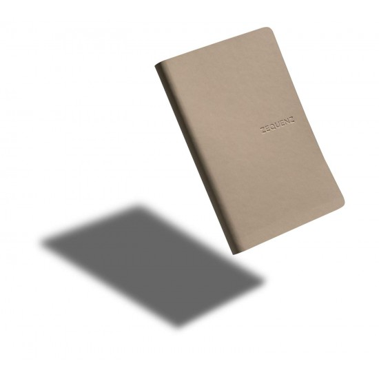 ZEQUENZ The Color Notebook Taupe A6- Size Ruled 200 Pages Soft Cover 9x14cm, 80gsm Cream Coloured Paper 360 Degree Openable Flexible Roll Up Journal  Fountain Pen Friendly